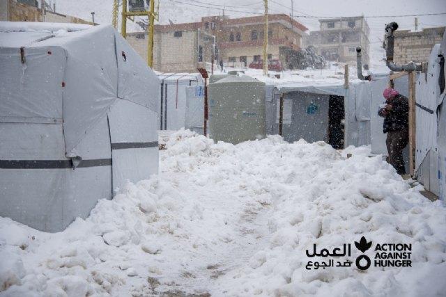 30.000 refugiados sirios afectados por la tormenta de nieve Karim - 1, Foto 1