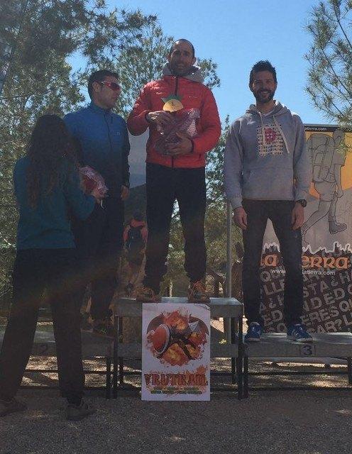 The Totana Athletics Club athlete, Diego Garcia, wins the first Vrutrail