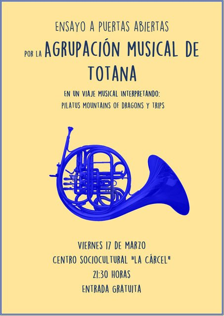 The Totana Musical Group will participate in the Regional Bands Contest, in Molina de Segura
