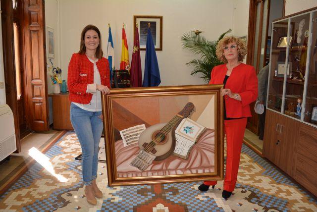 La pintora Beatriz García dona la obra Arte y sentimiento al Ayuntamiento de Águilas - 1, Foto 1