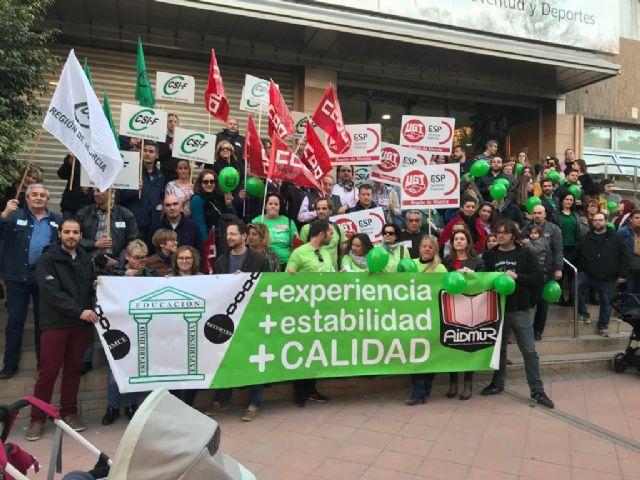 El PSOE reivindica en la Asamblea un Plan de estabilidad para el colectivo docente interino de la Región de Murcia, Foto 1