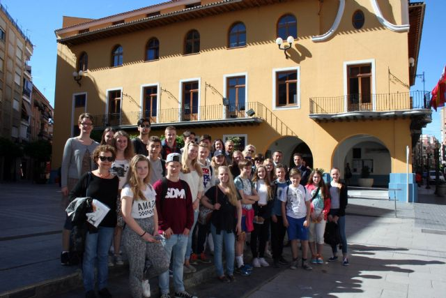27 alumnos de la ciudad de As (Noruega), son recibidos por el Alcalde de Alcantarilla - 2, Foto 2