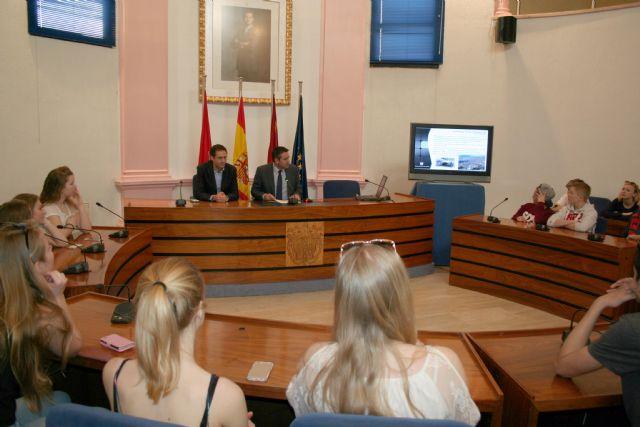 27 alumnos de la ciudad de As (Noruega), son recibidos por el Alcalde de Alcantarilla - 4, Foto 4
