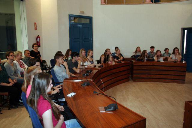 27 alumnos de la ciudad de As (Noruega), son recibidos por el Alcalde de Alcantarilla - 5, Foto 5