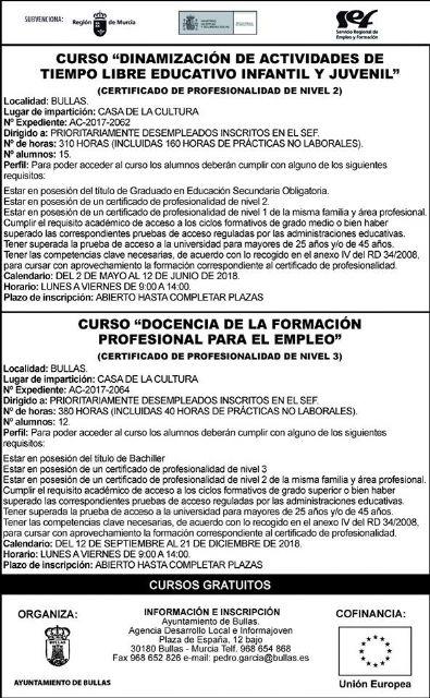 Cursos para desempleados en Bullas - 1, Foto 1