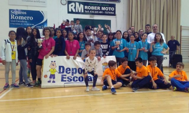 End of the Local Stage of School Sports Basketball with the awarding of trophies