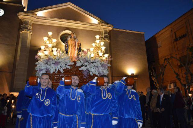 El Viernes de Dolores se tiñe un año más de blanco y azul en Las Torres de Cotillas - 1, Foto 1