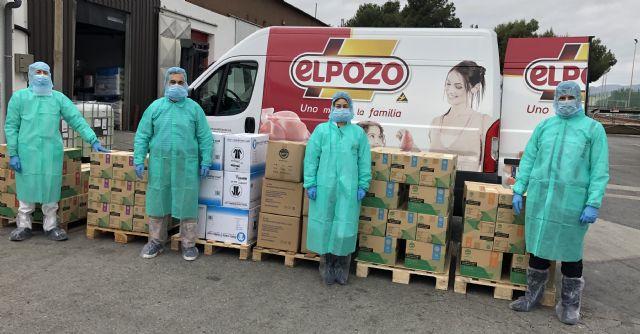 El Pozo Alimentación dona al Ministerio de Sanidad un millón de unidades de protección sanitaria, Foto 1