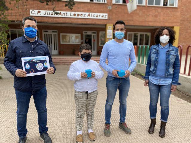 Dos escolares de Puerto Lumbreras, premiados en el concurso nacional de Aqualia, por plasmar en un cartel cómo consumir agua con responsabilidad - 1, Foto 1