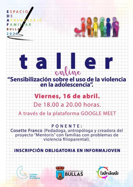 Taller online 'Sensibilización sobre el uso de la violencia en la adolescencia' - 1, Foto 1