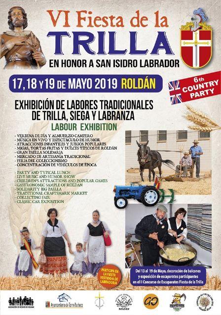 Roldán pone en valor nuestras tradiciones, patrimonio cultural, histórico y etnográfico con la celebración de La Fiesta de la Trilla los días 17, 18, y 19 de mayo - 1, Foto 1
