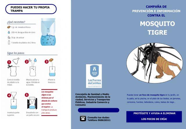 El Ayuntamiento de Las Torres de Cotillas sigue trabajando en el control del mosquito tigre - 1, Foto 1