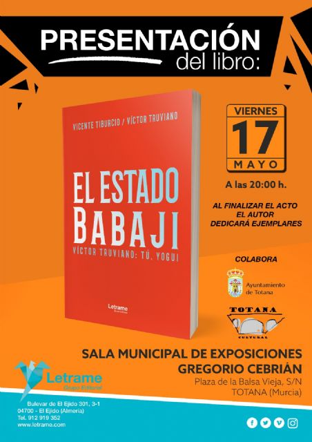 "Professor Vicente Tiburcio presents the book ""El Estado Babaji"" on Friday"