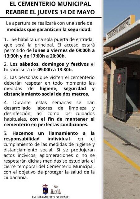 El Cementerio Municipal reabre al público con estrictas medidas de higiene y seguridad - 1, Foto 1