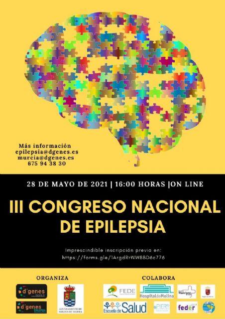 El próximo 28 de mayo tendrá lugar de manera on line el III Congreso Nacional de Epilepsia organizado por D´Genes - 1, Foto 1