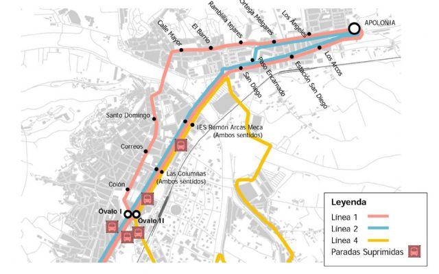 El próximo 18 de junio entrarán en funcionamiento las nuevas paradas de autobús ubicadas en el Óvalo y el nuevo recorrido de la línea Apolonia  Almenara y Óvalo  Santa Quiteria - 1, Foto 1