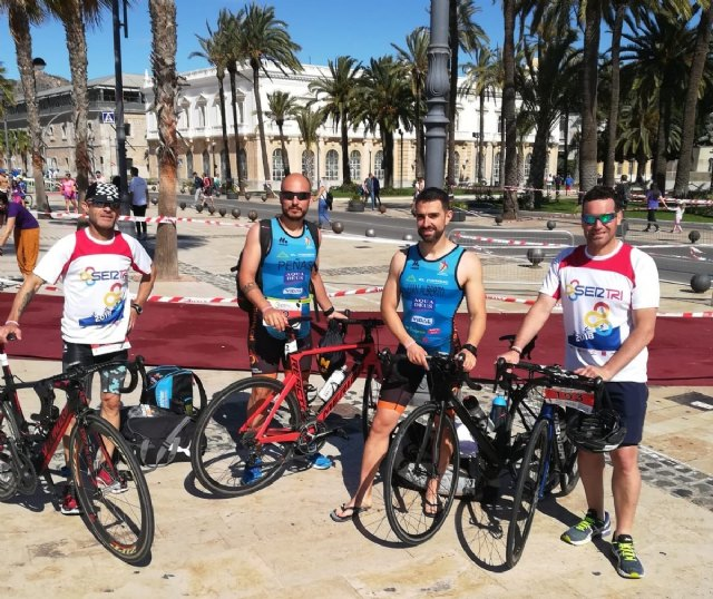 The Club Totana Triathlon was present at the Sertri in Cartagena and in the Valencia 113 - 1