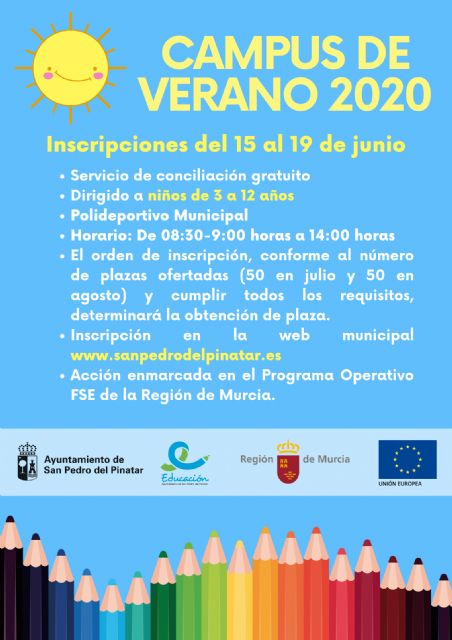 San Pedro del Pinatar ofrece un campus de verano gratuito dirigido a niños de 3 a 12 años para favorecer la conciliación - 1, Foto 1