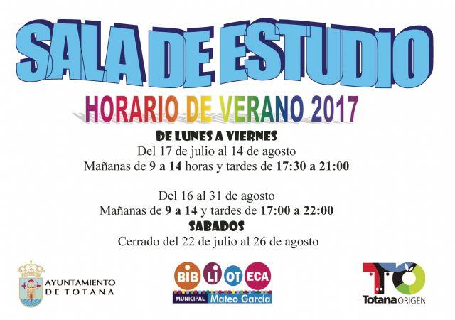 La Sala de Estudio del Centro Sociocultural La Cárcel prestará servicio en nuevo horario entre el 17 de julio y el 31 de agosto, Foto 1