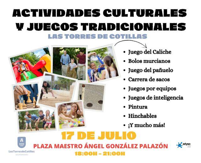 Una jornada de actividades culturales y juegos tradicionales para toda la familia en Las Torres de Cotillas - 1, Foto 1