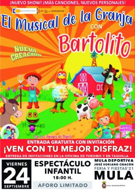 Cambio de lugar evento infantil «El musical de la Granja de Bartolito» - 1, Foto 1