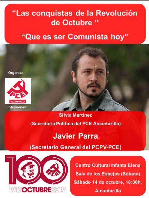 La agrupación del Partido Comunista de España en Alcantarilla, celebra un acto sobre el centenario de la Revolución Bolchevique - 1, Foto 1