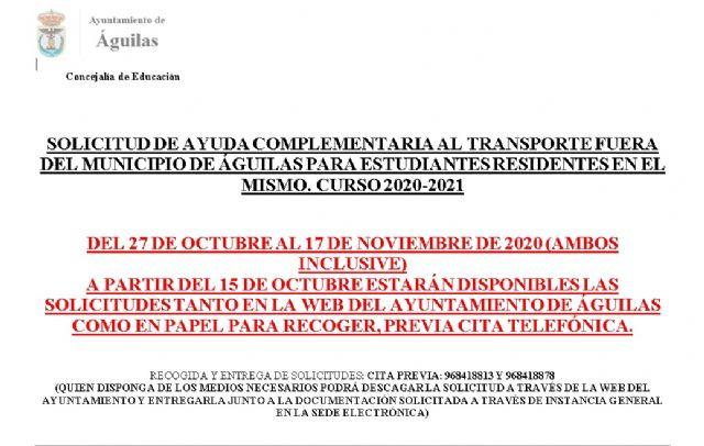 A partir del 15 de octubre estará disponible el certificado para solicitar ayudas complementarios para el transporte de estudiantes - 1, Foto 1