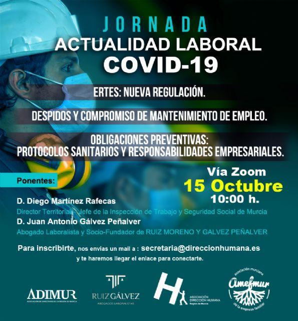 Dirección Humana, Adimur, Amefmur y Ruíz & Gálvez analizarán la legislación laboral referente al Covid-19 con la Inspección de Trabajo - 1, Foto 1