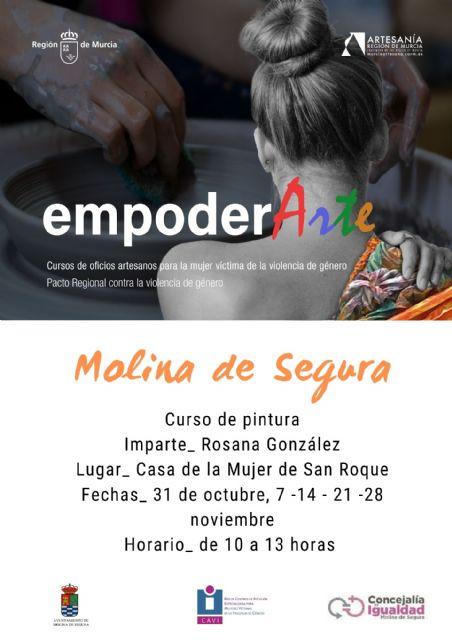 La Concejalía de Igualdad y Violencia de Género de Molina de Segura organiza el curso de pintura EMPODERARTE 2020 - 1, Foto 1