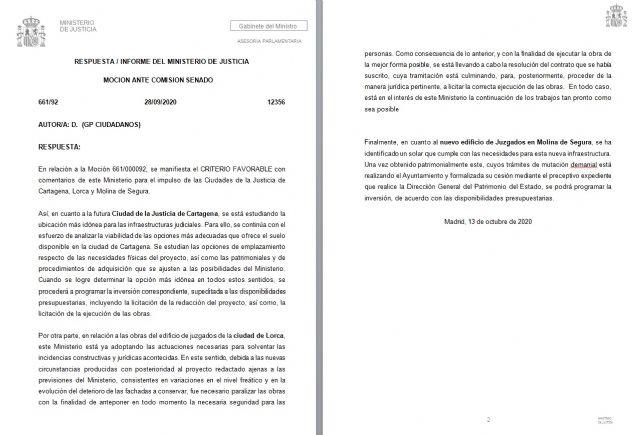 Marisol Sánchez: el nivel de chapuza del proyecto del Palacio de Justicia que presentó el Partido Popular ha quedado patente puesto que ha sido la propia empresa adjudicataria la que se negó a continuar con las obras - 1, Foto 1