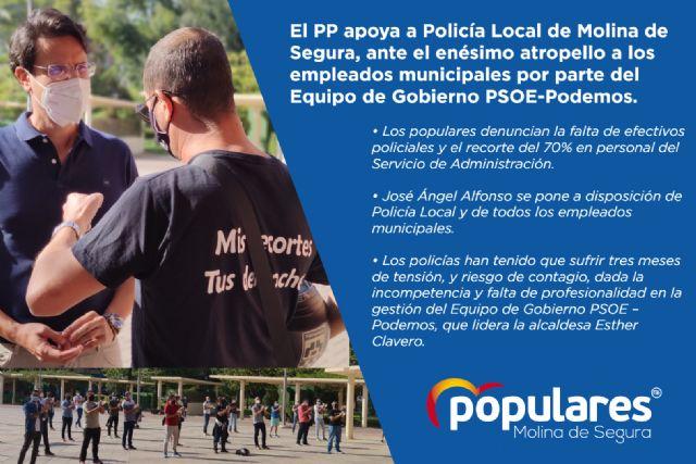 El PP apoya a Policía Local de Molina de Segura, ante el enésimo atropello a los empleados municipales por parte del Equipo de Gobierno PSOE-Podemos - 1, Foto 1