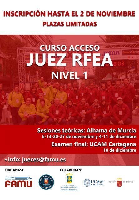 Ya abierta convocatoria seminario y examen de acceso a juez de atletismo, categoría RFEA Nivel 1 - 2021 - 1, Foto 1