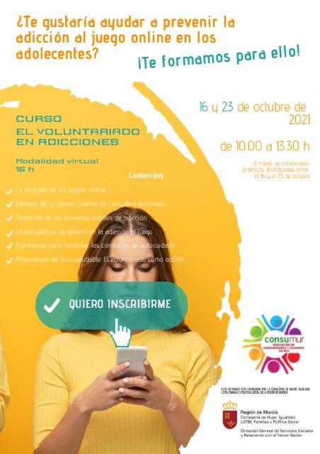 CONSUMUR pone en marcha un curso para formar en la prevención de la adicción al juego online en adolescentes - 1, Foto 1