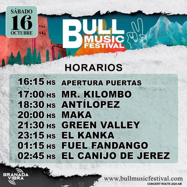 BULL MUSIC FESTIVAL anuncia horarios para su primer día grande lleno de fusión y mestizaje - 1, Foto 1