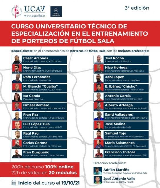 """Nueva edición del """"Curso Universitario Técnico de Especialización en Entrenamiento de Porteros de Fútbol Sala - 1, Foto 1"""