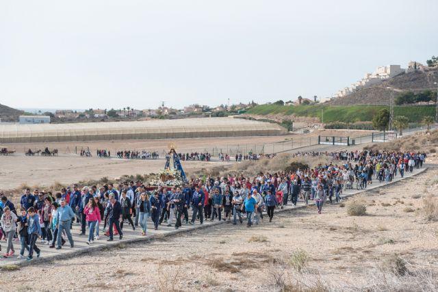 Centenares de personas acompañan a la Purísima en su traslado de Bolnuevo a Mazarrón - 1, Foto 1