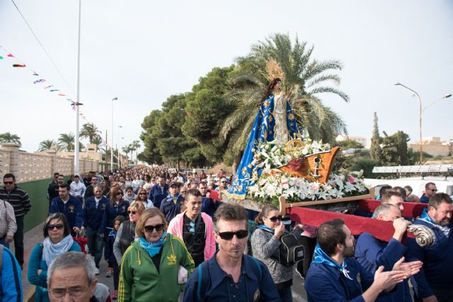 Centenares de personas acompañan a la Purísima en su traslado de Bolnuevo a Mazarrón - 2, Foto 2