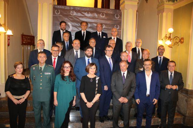 L�pez Miras clausura el acto de entrega de los premios Laureles de Murcia, Foto 1