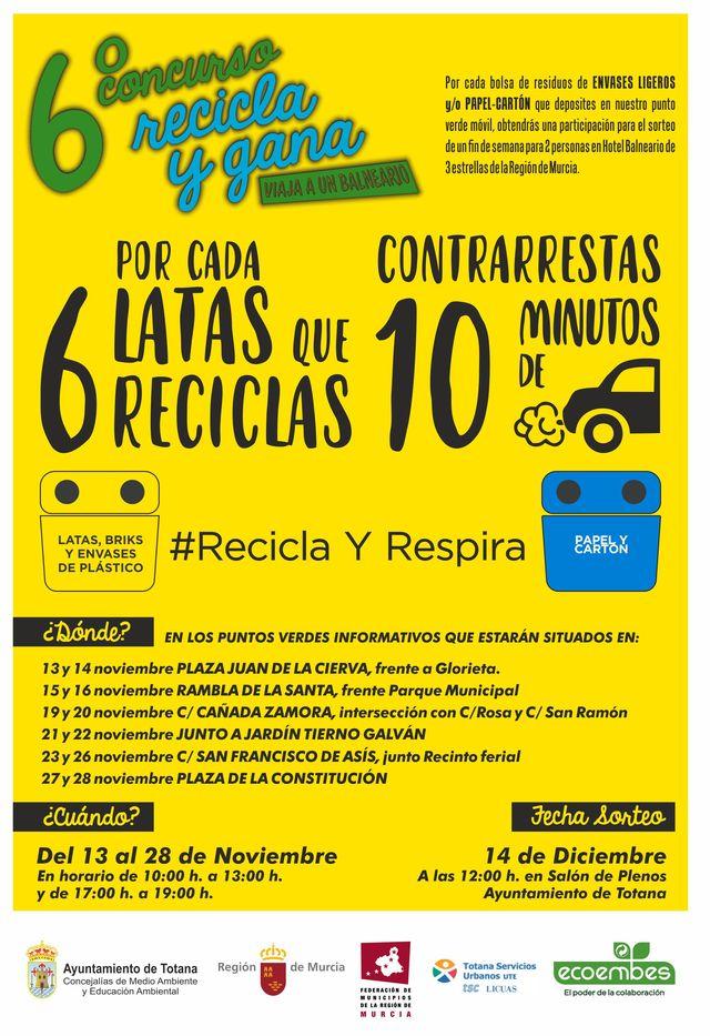 Hoy comienza la campaña de concienciación ciudadana para fomentar el reciclaje mediante la separación en origen de envases ligeros y papel-cartón