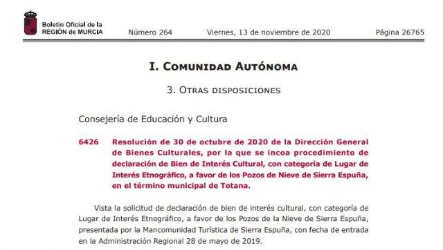 Abren expediente para declarar BIC los Pozos de Nieve de Sierra Espuña, en Totana - 2, Foto 2