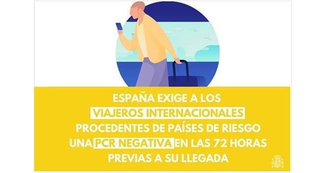 España exigirá a viajeros internacionales de países de riesgo una PCR negativa en las últimas 72 horas - 1, Foto 1