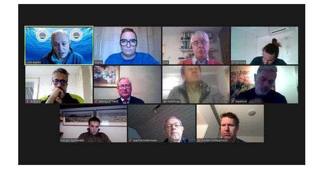 Reunión telemática de la Comisión Deportiva de la Federación Europea de Salvamento., Foto 1
