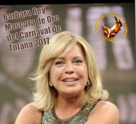 """The artist totanera Bárbara Rey is designated the """"Mask of gold"""" of the Carnival of Totana of the year 2017 - 1"""