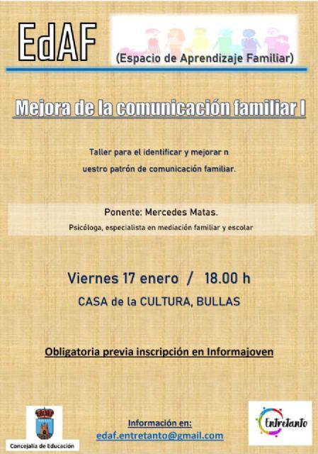 Patrón de comunicación familiar, nuevo taller en el Espacio de Aprendizaje Familiar - 1, Foto 1