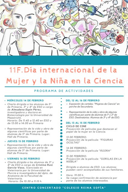 The Reina Sofía school organizes several activities framed in the International Day of Women and Girls in Science - 2
