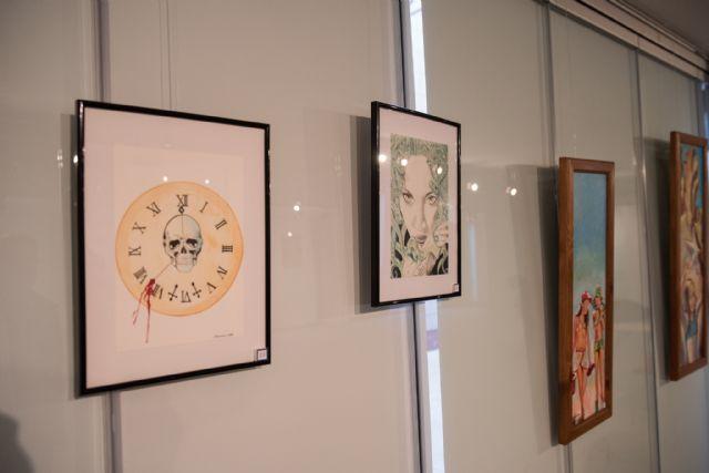 Cinco artistas exponen sus trabajos en la Universidad Popular, Foto 3