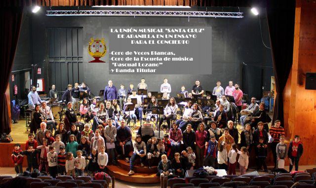 Concierto de la Unión Musical Santa Cruz de Abanilla en el auditorio Víctor Villegas de Murcia - 1, Foto 1