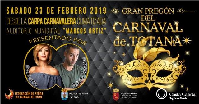 El Gran Pregón del Carnaval de Totana 2019 tendrá lugar el sábado 23 de febrero - 1, Foto 1