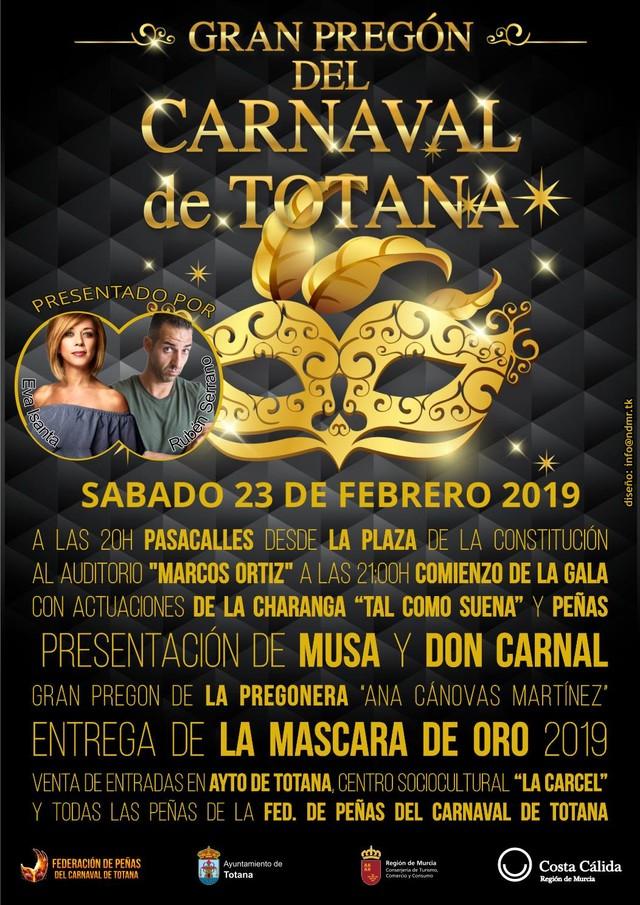 El Gran Pregón del Carnaval de Totana 2019 tendrá lugar el sábado 23 de febrero - 2, Foto 2