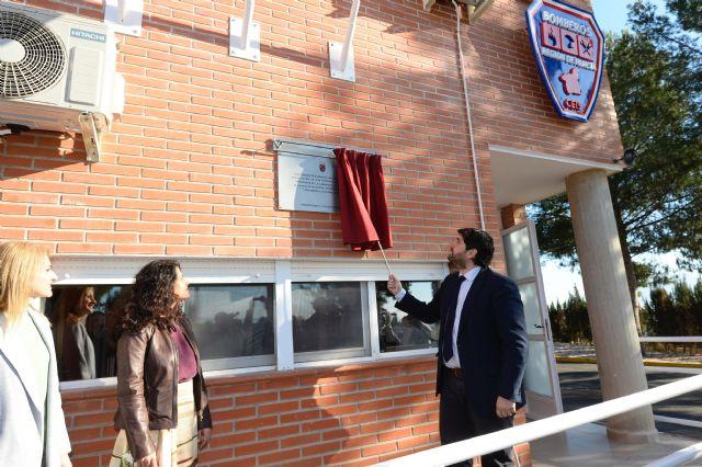 L�pez Miras inaugura el nuevo parque de bomberos Alhama-Totana y destaca la val�a y profesionalidad de los efectivos del CEIS, Foto 2